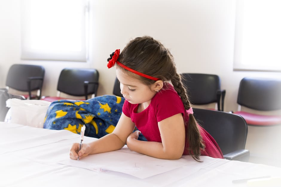 How to teach business concepts to your child - young girl studying image