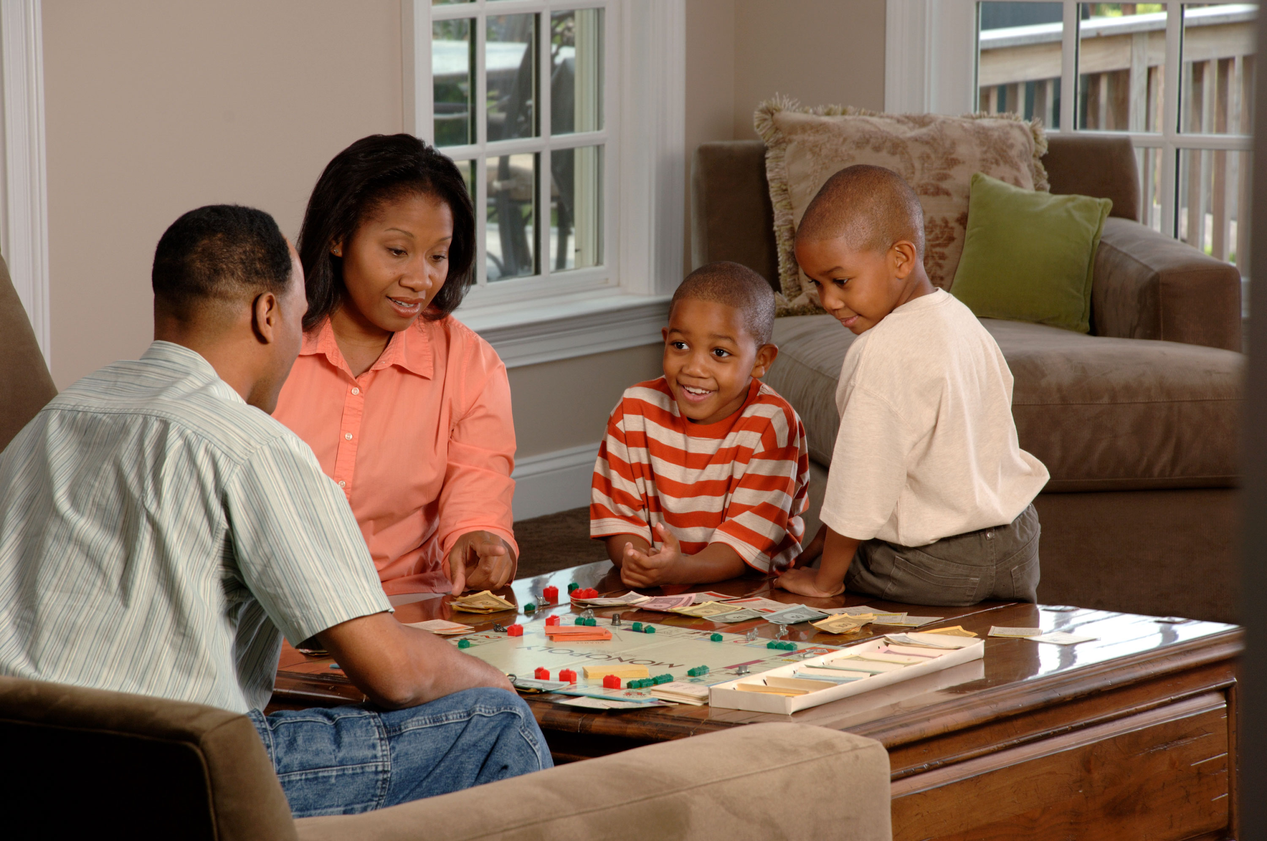 Teaching Kids The Money Game - family board game image