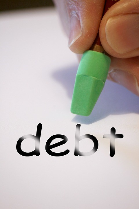 Three Steps To A Debt-Free Life - erasing debt image