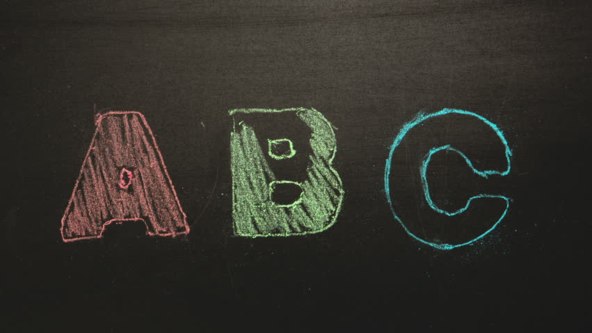 Learning the financial abcs of money - chalkboard image