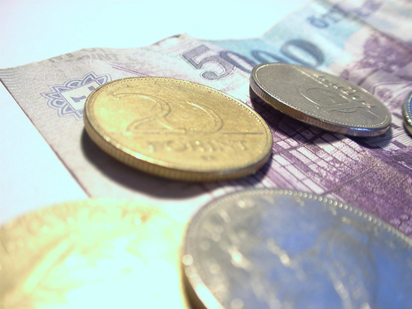 financially secure - image of euro coins and note