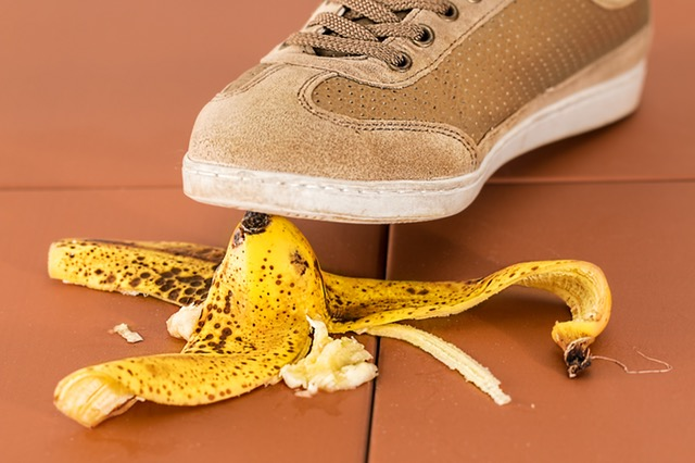 Dealing With Accidental Debt - debt by accident banana skin image