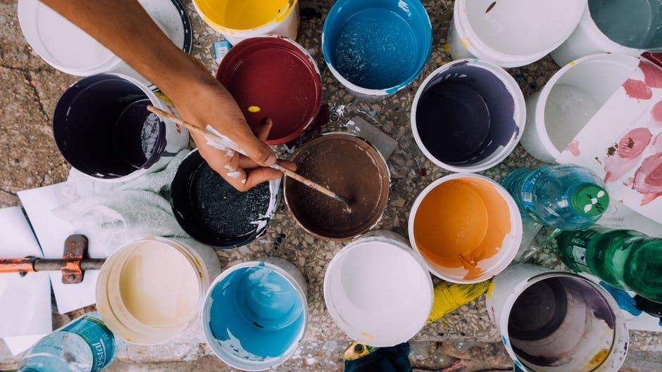 Teaching Your Kids About DIY - paint pots image